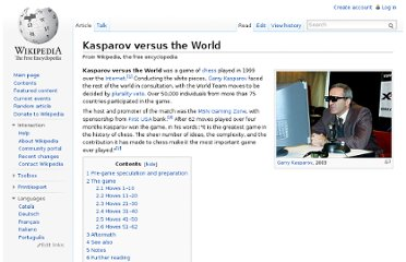 http://en.wikipedia.org/wiki/Kasparov_versus_the_World