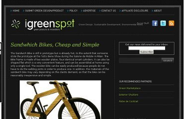 http://www.igreenspot.com/sandwhich-bikes-cheap-and-simple/