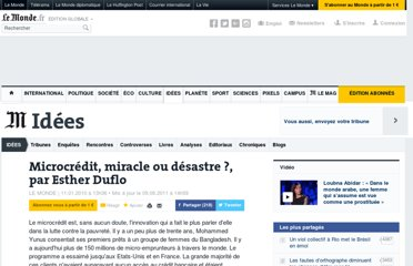 http://www.lemonde.fr/idees/article/2010/01/11/microcredit-miracle-ou-desastre-par-esther-duflo_1290110_3232.html