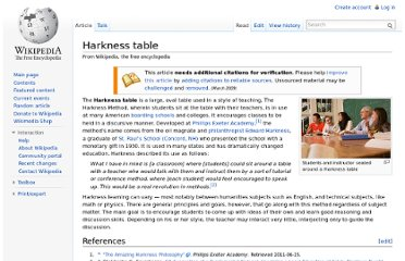 http://en.wikipedia.org/wiki/Harkness_table