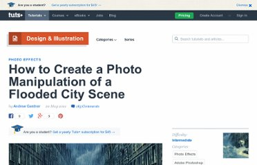 http://psd.tutsplus.com/tutorials/photo-effects-tutorials/flooded-city-scene/