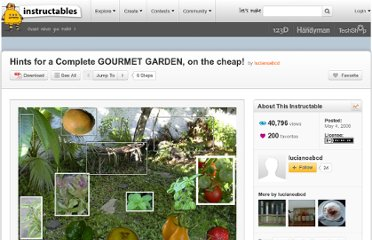 http://www.instructables.com/id/Hints-for-a-Complete-GOURMET-GARDEN-on-the-cheap/