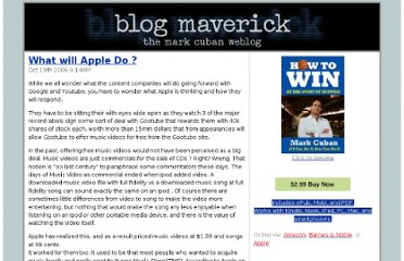 http://blogmaverick.com/2006/10/19/what-will-apple-do/