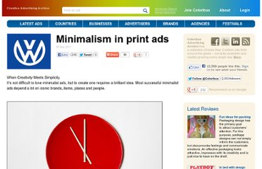 http://www.coloribus.com/reviews/minimalism-in-print-ads-1255/