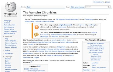 http://en.wikipedia.org/wiki/The_Vampire_Chronicles#The_Vampire_Chronicles