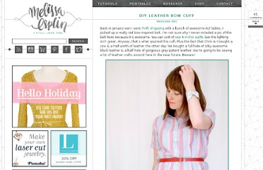 http://melissaesplin.com/2011/03/diy-leather-bow-cuff/