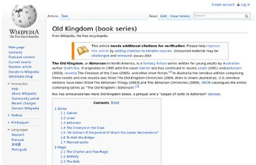 http://en.wikipedia.org/wiki/Old_Kingdom_(book_series)