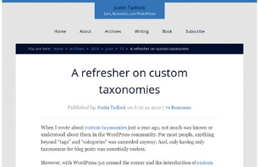 http://justintadlock.com/archives/2010/06/10/a-refresher-on-custom-taxonomies