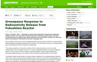 http://www.greenpeace.org/international/en/press/releases/Radioactivity-Release-from-Fukushima-Reactor/