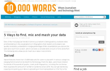 http://www.mediabistro.com/10000words/5-ways-to-find-mix-and-mash-your-data_b378