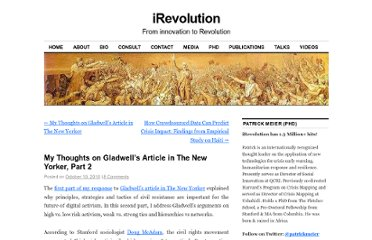 http://irevolution.net/2010/10/10/gladwell-part2/
