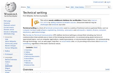 http://en.wikipedia.org/wiki/Technical_writing