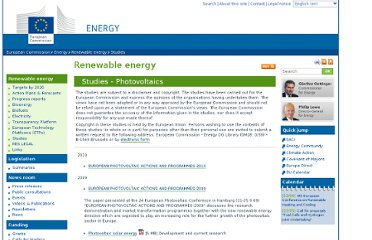 http://ec.europa.eu/energy/renewables/studies/photovoltaics_en.htm