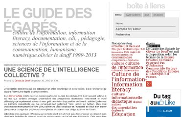 http://www.guidedesegares.info/2010/01/30/une-science-de-l%e2%80%99intelligence-collective/