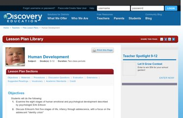http://www.discoveryeducation.com/teachers/free-lesson-plans/human-development.cfm