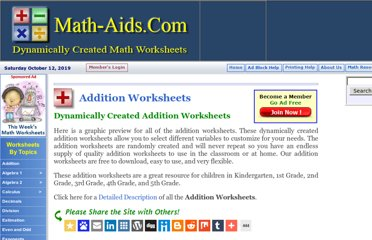 http://www.math-aids.com/Addition/