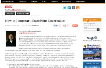 https://www.nothingbutsharepoint.com/sites/eusp/Pages/how-to-jumpstart-sharepoint-governance.aspx