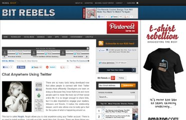 http://www.bitrebels.com/social/chat-anywhere-using-twitter/