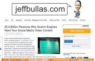 http://www.jeffbullas.com/2009/10/28/25-4-billion-reasons-why-search-engines-want-your-social-media-video-content/