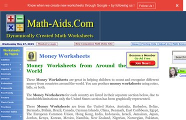 http://www.math-aids.com/Money/