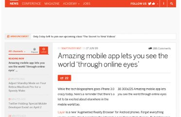 http://thenextweb.com/2009/06/17/amazing-mobile-app-lets-world-through-online-eyes/