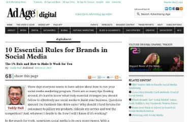 http://adage.com/article/digitalnext/10-essential-rules-brands-social-media/142907/