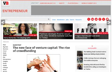 http://venturebeat.com/2010/05/11/the-new-face-of-venture-capital-the-rise-of-crowdfunding/