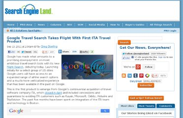 http://searchengineland.com/google-travel-search-takes-flight-with-first-ita-travel-product-92594