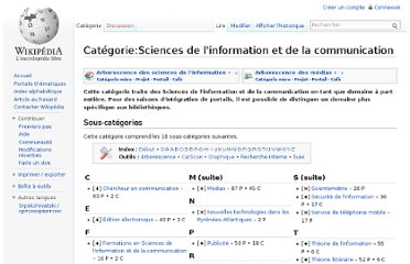 http://fr.wikipedia.org/wiki/Cat%C3%A9gorie:Sciences_de_l%27information_et_de_la_communication