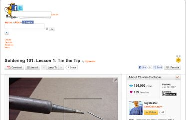 http://www.instructables.com/id/Soldering-101%3a-Lesson-1%3a-Tin-the-Tip/