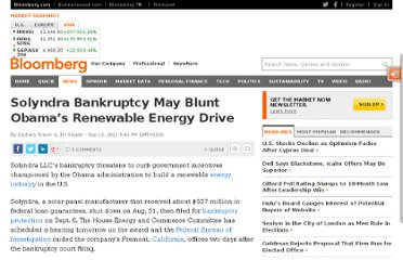 http://www.bloomberg.com/news/2011-09-13/solyndra-failure-is-seen-blunting-obama-drive-to-aid-clean-energy-startups.html