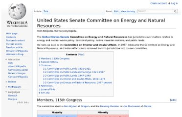http://en.wikipedia.org/wiki/United_States_Senate_Committee_on_Energy_and_Natural_Resources