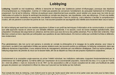 http://iqgarho.pagesperso-orange.fr/lobbying.htm
