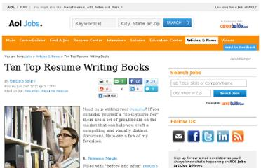 http://jobs.aol.com/articles/2011/06/02/resume-rescue-ten-top-resume-writing-books/
