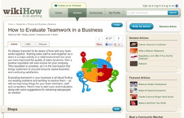 http://www.wikihow.com/Evaluate-Teamwork-in-a-Business