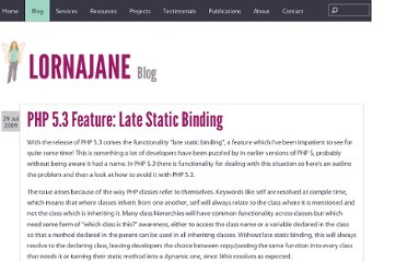 http://www.lornajane.net/posts/2009/php-5-3-feature-late-static-binding
