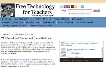 http://www.freetech4teachers.com/2011/09/77-educational-games-and-game-builders.html