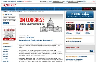 http://www.politico.com/blogs/glennthrush/0911/Senate_Dems_finally_move_disaster_aid.html#