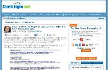 http://searchengineland.com/how-to-find-the-right-local-vertical-sites-for-your-small-business-71578