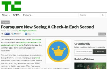 http://techcrunch.com/2010/01/12/foursquare-check-ins/