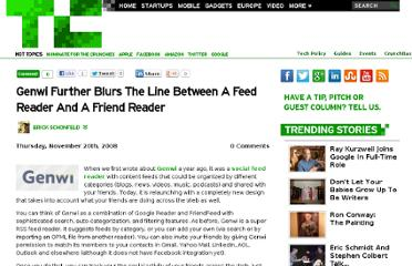 http://techcrunch.com/2008/11/20/genwi-further-blurs-the-line-between-a-feed-reader-and-a-friend-reader/