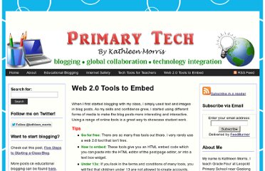 http://primarytech.global2.vic.edu.au/web-2-0-tools-to-embed-on-your-blog/