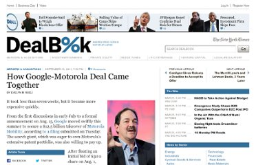 http://dealbook.nytimes.com/2011/09/13/how-the-google-motorola-deal-went-down/