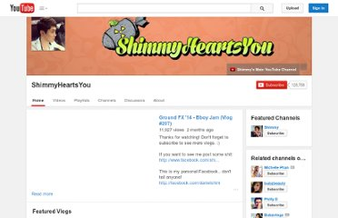 http://www.youtube.com/user/ShimmyHeartsYou