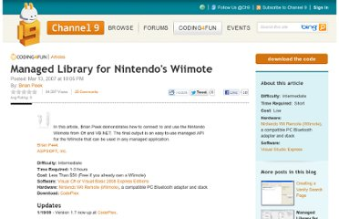 http://channel9.msdn.com/coding4fun/articles/Managed-Library-for-Nintendos-Wiimote