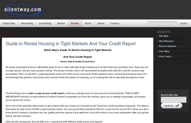 http://www.silentway.com/guide-rental-housing-tight-markets-your-credit-report