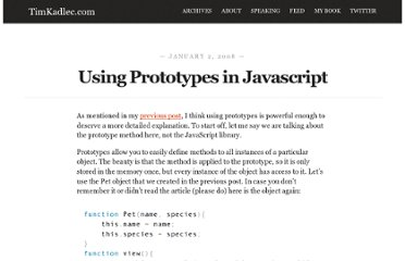 http://timkadlec.com/2008/01/using-prototypes-in-javascript/