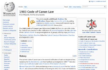 http://en.wikipedia.org/wiki/1983_Code_of_Canon_Law