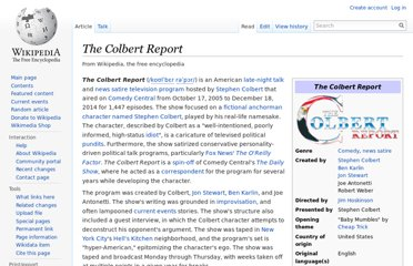 http://en.wikipedia.org/wiki/The_Colbert_Report