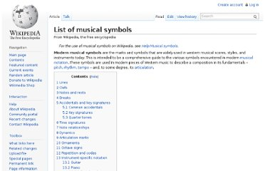 http://en.wikipedia.org/wiki/List_of_musical_symbols